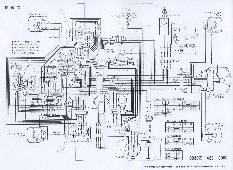 XL250S ホンダXL250S 配線図&サービスデータ
