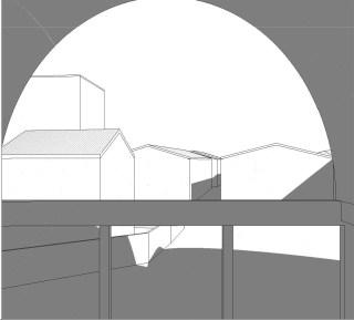 Perspective de la halle est de la petite cathédrale