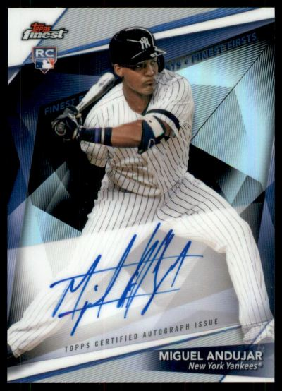 2018 Finest Finest Firsts Autographs #FFA-MA Miguel Andujar RC Auto