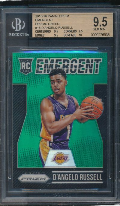 2015-16 Panini Prizm Emergent Prizms Green #18 D'Angelo Russell RC BGS 9.5