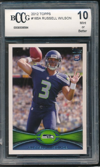 2012 Topps #165 Russell Wilson RC BCCG 10