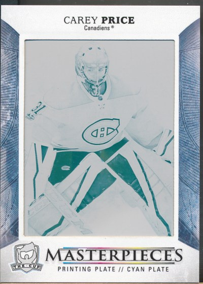 2017-18 The Cup Printing Plate Cyan #CUP45 Carey Price /1