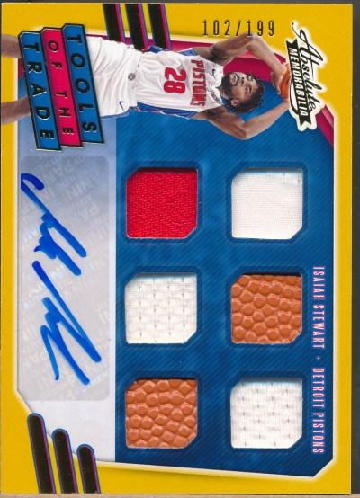 2020-21 Absolute Tools of the Trade 6 Level 1 Isaiah Stewart RC Auto Jsy Ball /199
