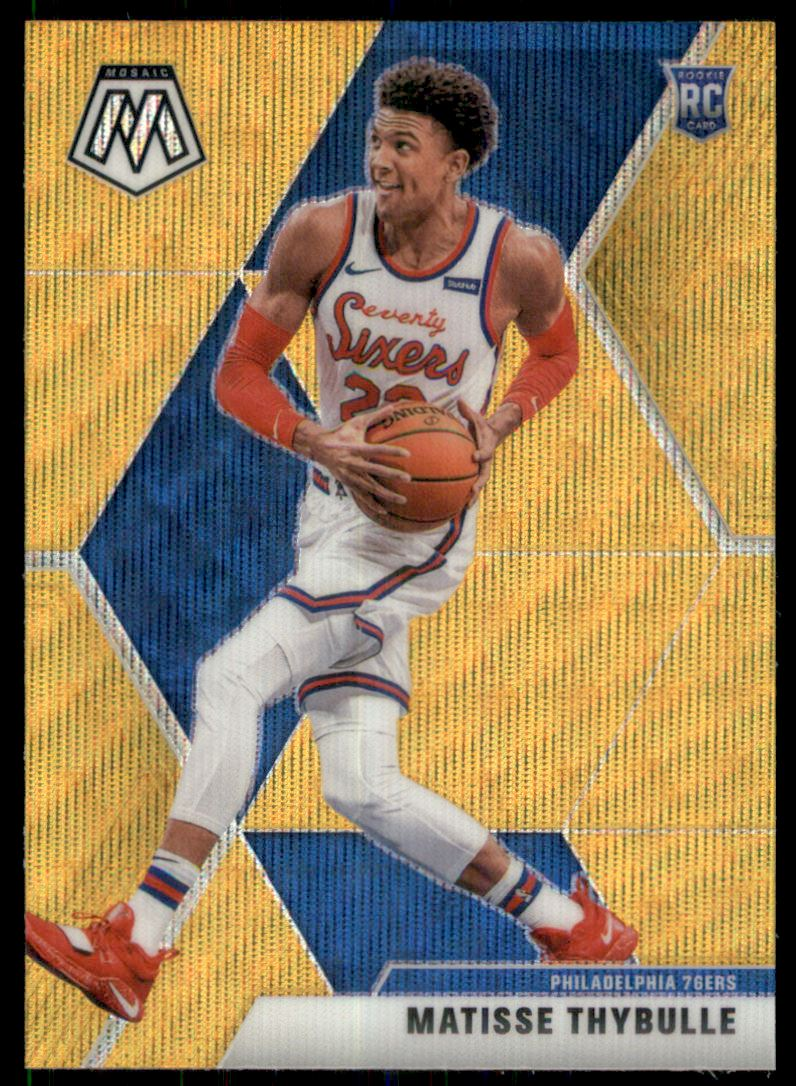 2019-20 Panini Mosaic Gold Wave #245 Matisse Thybulle RC