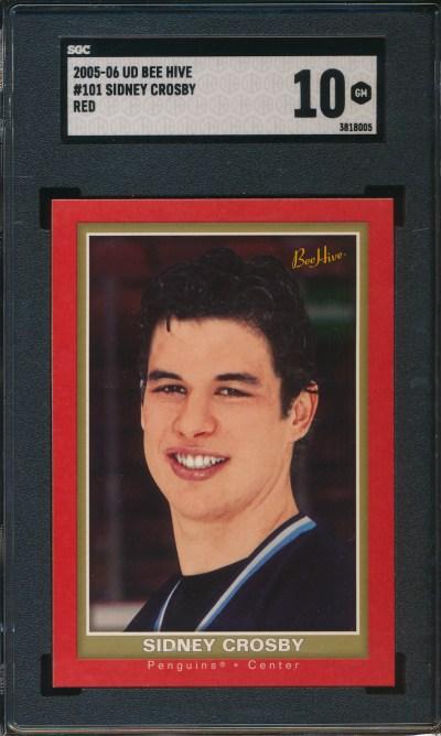 2005 UD Beehive Red #101 Sidney Crosby SGC 10