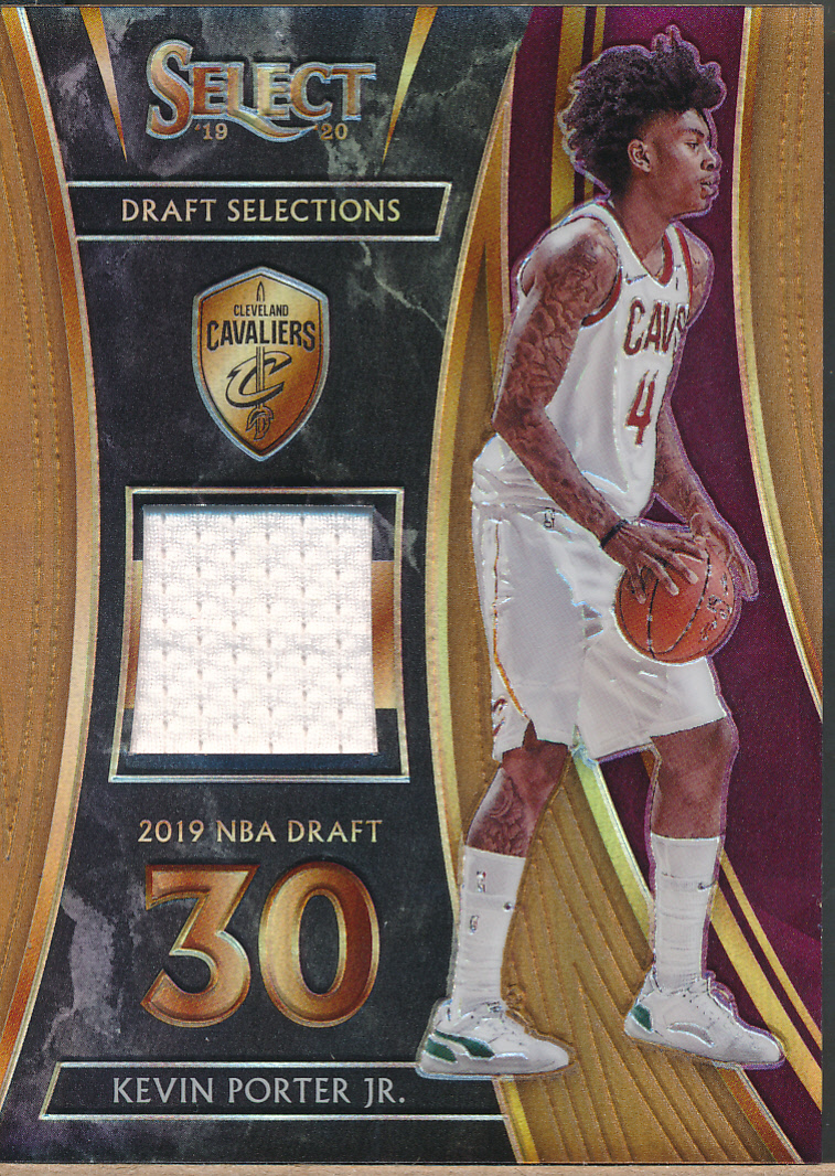 2019-20 Select Draft Selections Swatches Prizm Copper Kevin Porter Jr RC Jsy /49