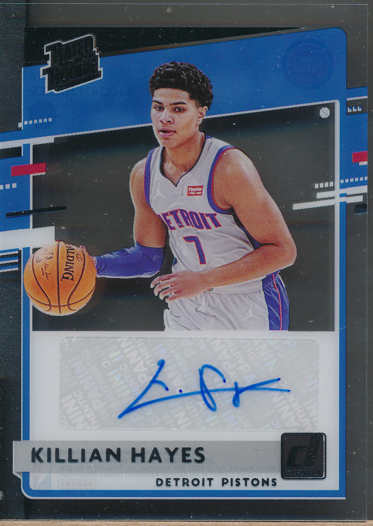 2020-21 Clearly Donruss Rated Rookies Autographs #RRA Killian Hayes RC Auto