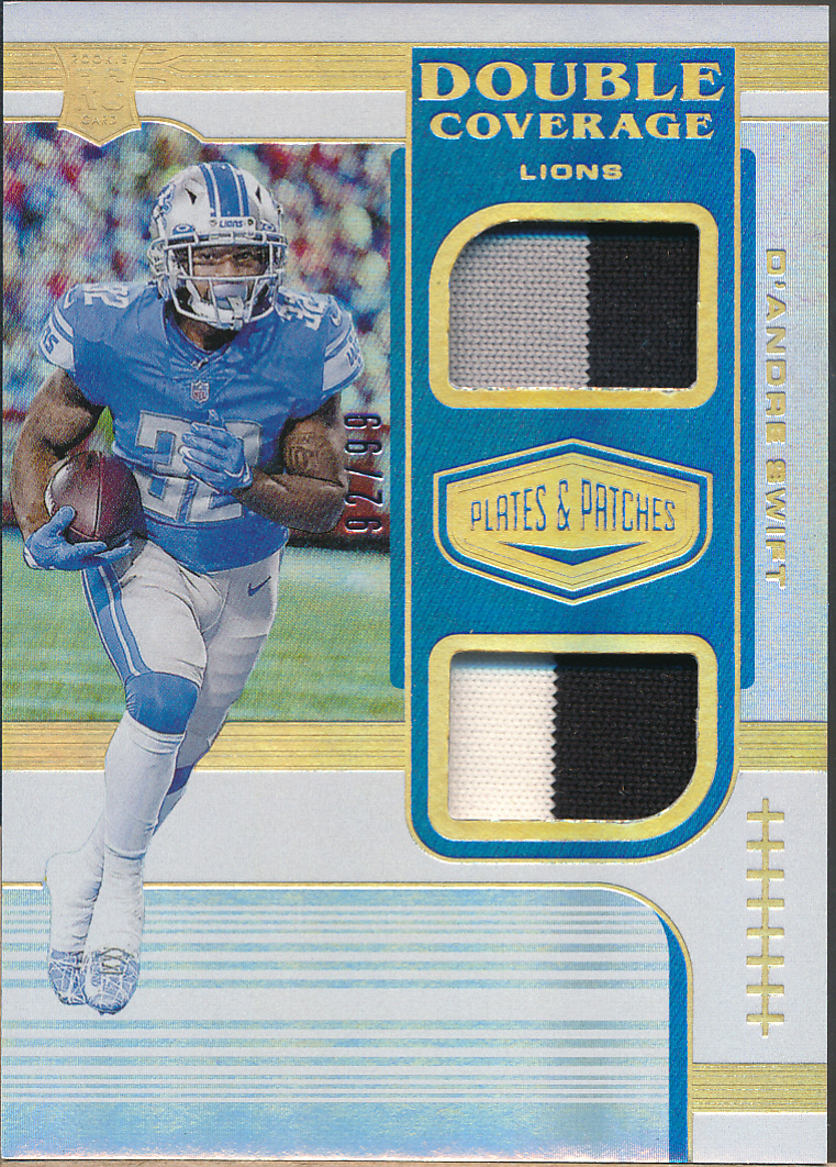 2020 Panini Plates & Patches Double Coverage #DS De'Andre Swift RC Jsy /99
