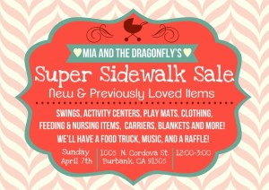 Mia And The Dragonfly Sidewalk Sale April 7th