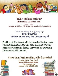 Milk & Bookies Bookfair At Barnes & Noble To Benefit The Parent Ed Program!