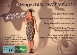 FREE Halloween Bash At Unique Vintage October 26th!