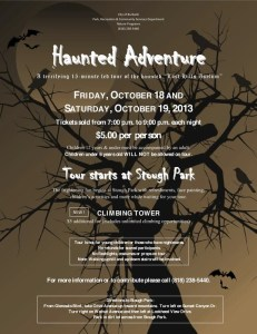 Haunted Adventure At Stough Park This Weekend