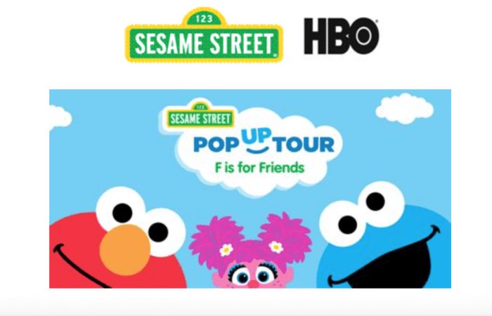 Sesame Street, F Is For Friends, Pop Up Tour Hits Our Area February 24th!