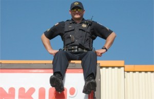 Dunkin' Cop On A Rooftop