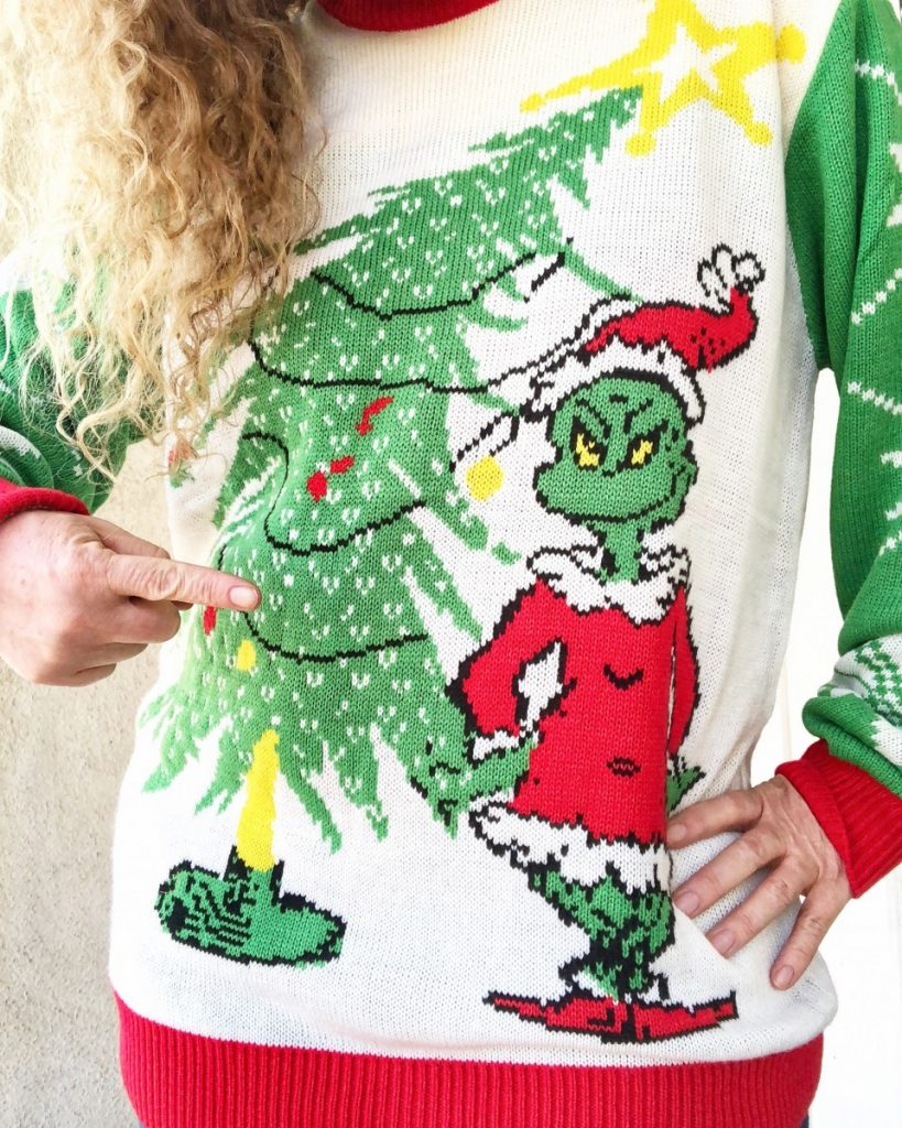 The Grinch Christmas Sweater.Get Ready For That Holiday Party With The Best Ugly