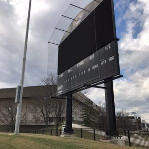 Mizzou Softball Scoreboard netting