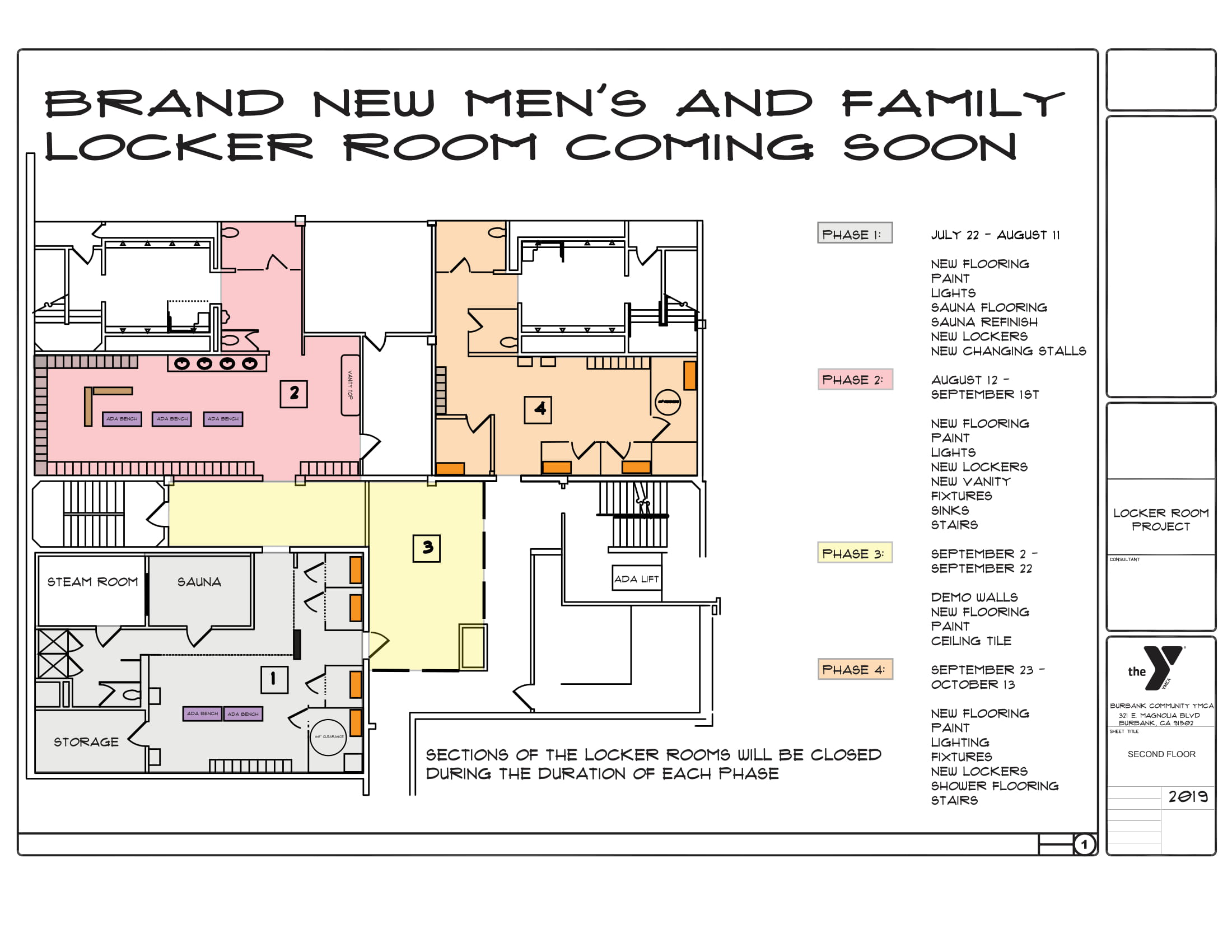 medium resolution of brand new men s and family locker rooms coming soon