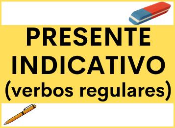 Presente indicativo regulares español