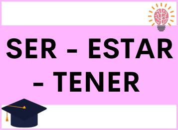 Ser, estar y tener en español