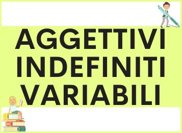 Aggettivi indefiniti variabili in spagnolo