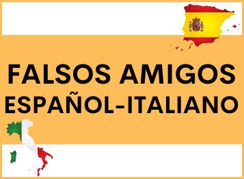 Falsos amigos español y italiano