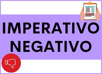 Imperativo negativo en español