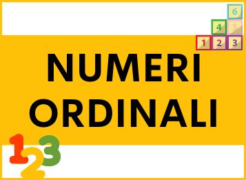 Numeri ordinali in spagnolo