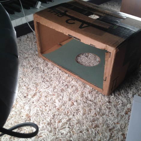 Inside view of the mini light box
