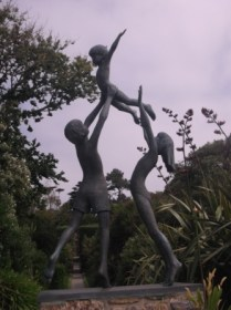 Tresco Children, statue in Abbey Gardens, Tresco by David Wynne