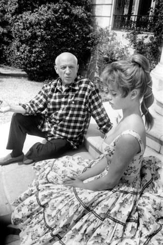 Üretilen kimi spekülasyonlara göre Brigitte Bardot Picasso'nun kendisinden ilham alarak bir resim yapmasını istiyor. Picasso bunu reddediyor ve iddialara göre bu fotoğraf o an Brigitte Bardot suratını asmışken çekiliyor.