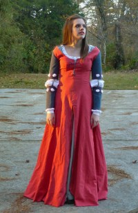Red/Blue Medieval Costume Contest Dress  Sewing Projects ...