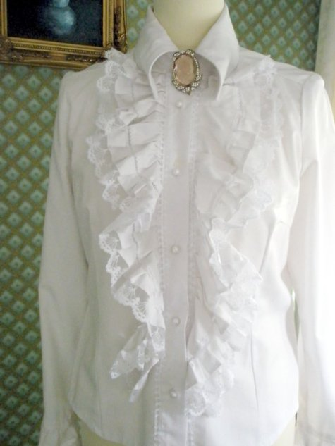Victorian Ruffle white blouse  Sewing Projects