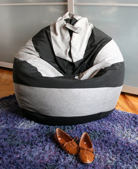 how to sew bean bag chair swivel no wheels striped sewing projects burdastyle com burda style for people who