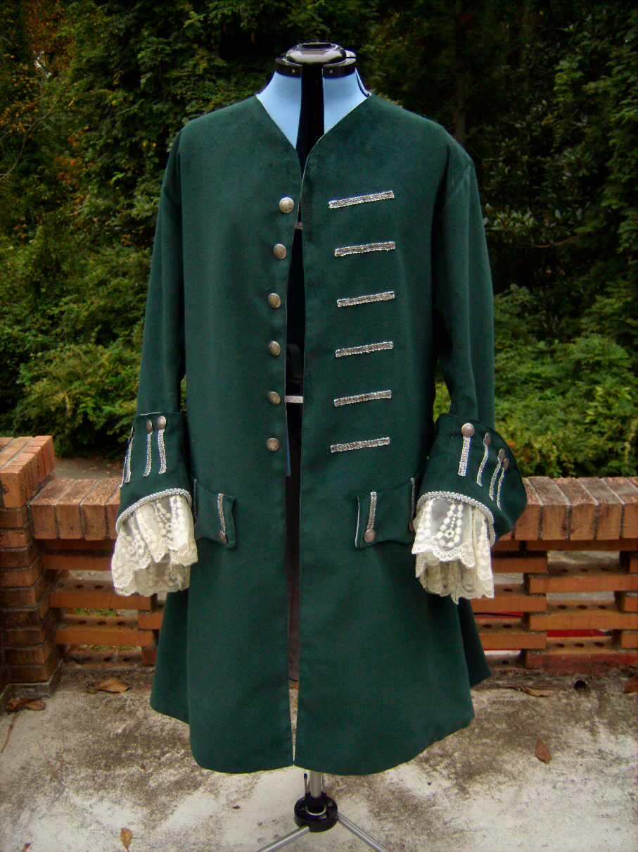 1700s Green Pirate Costume Coat CLIENT PROJECT  Sewing