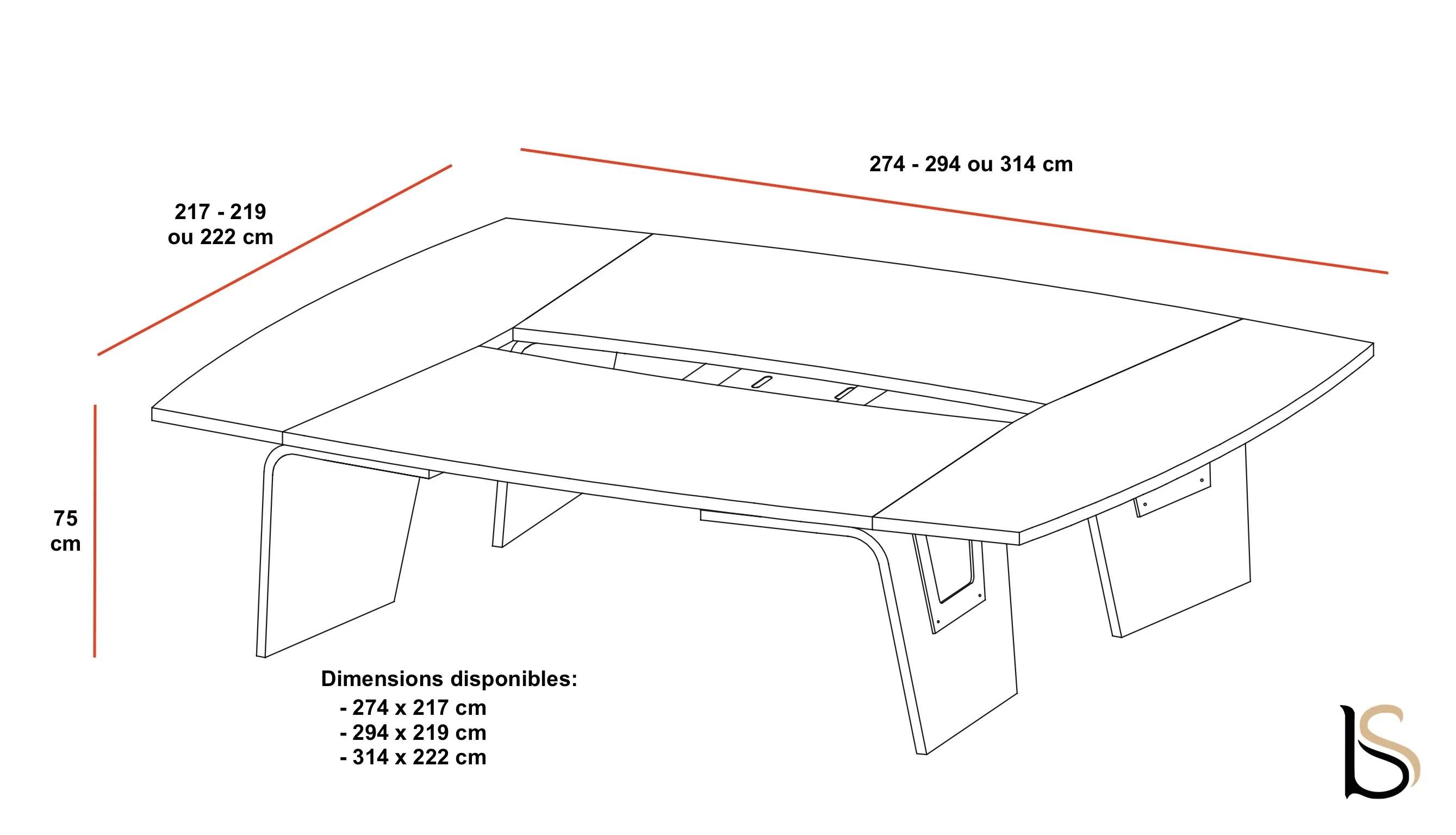 table de reunion larus pour 8 a 10 personnes dellarovere tables d