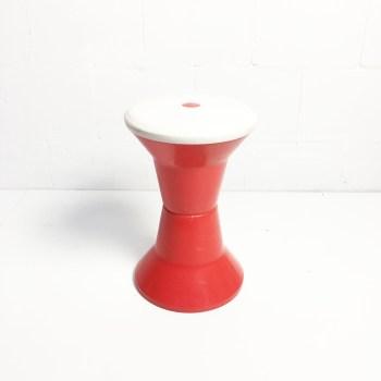 vintage krukje rood wit