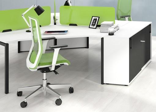 Ergo Wind bureaustoel | zwarte en witte frame uitvoering Bureaustoelen MKB | Narbutas