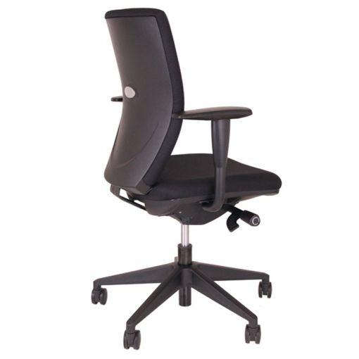 Ergo Go bureaustoel - vaste gestoffeerde rug stofkleur zwart bureaustoelen MKB