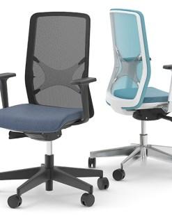 Ergo Wind bureaustoel | zwarte en witte frame uitvoering | Bureaustoelen MKB | Narbutas