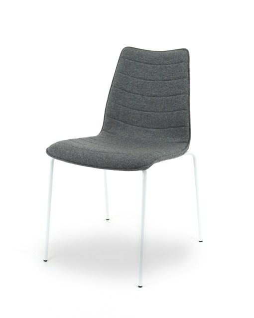 Visit F15 vergaderstoel met armleggers in woolvit stof Bureaustoelen MKB