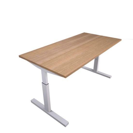 Pinta bureau met witte poot en midden eiken blad   Bureaustoelen MKB