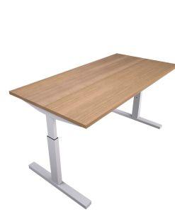 Pinta bureau met witte poot en midden eiken blad | Bureaustoelen MKB