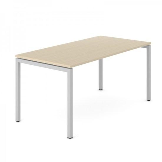 Bureau NOVA 74 N-poot, wit frame en licht eiken blad | Narbutas | Bureaustoelen MKB