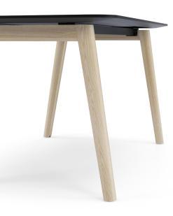 Nova wood detail poot en verjongd blad Narbutas   Bureaustoelen MB