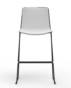 Tweet High, slanke barstoel met sledeframe en tweekleurige zitschaal. Bureaustoelen MKB