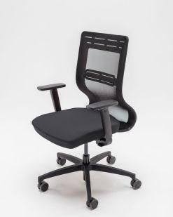 TanYa Office Bureaustoel, zwarte stof