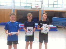 02_Jungen 5. Klasse (v. r. n. l.) 3. Platz Alexander Ahlers, 2. Platz Max Kunath, 1. Platz Hannes Kowalewicz