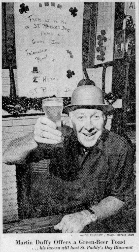 Duffy's Tavern in the Miami Herald March 17, 1976