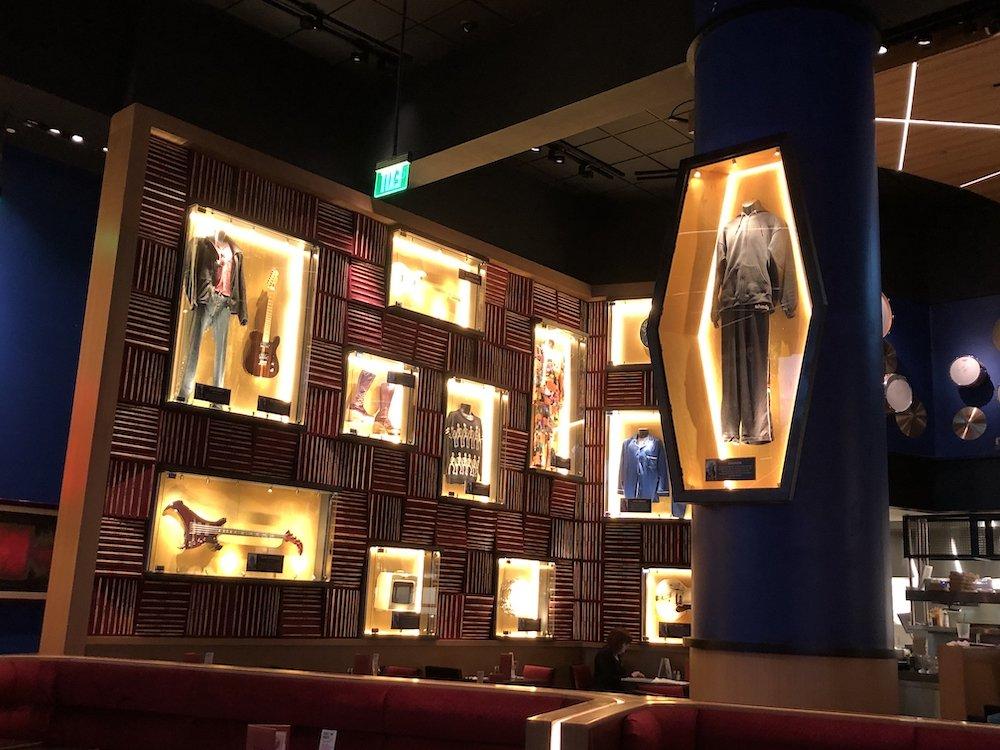 Hard Rock Cafe Hollywood Decor
