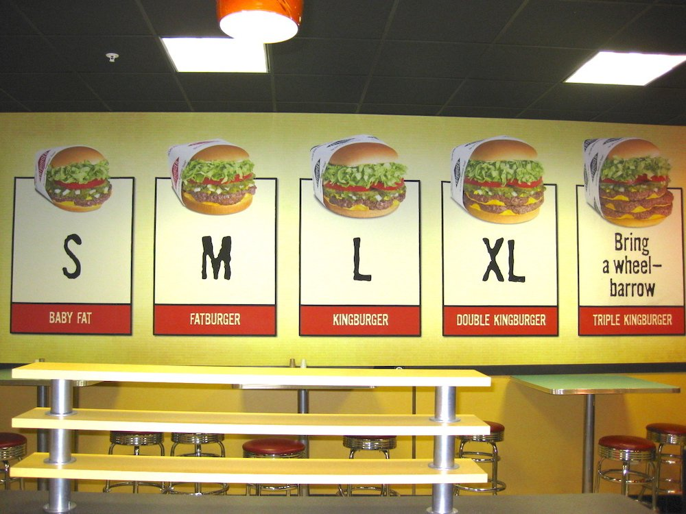 Fatburger S thru XL Burgers
